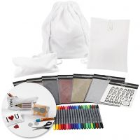 Krea-pakke– Dekoration af tekstiler til skolestart, 1 sæt