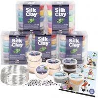Klassesæt til figurer med Silk Clay®, 1 sæt