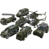 Erhvervskøretøjer, Militærkøretøjer, str. 6-10 cm, 8 stk./ 1 sæt