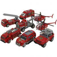 Erhvervskøretøjer, Redningskøretøjer, str. 6-10 cm, 8 stk./ 1 sæt