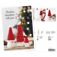 Postkort, Nisse og juletræ med megagarn, A5, 14,8x21 cm, 1 stk.