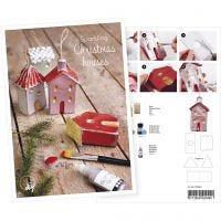 Postkort, Huse med glitter, A5, 14,8x21 cm, 1 stk.