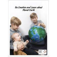 Plakat, Vær kreativ og lær om planeten Jorden, 50x70, 29,7x42, 21x30 cm, 4 stk./ 1 pk.