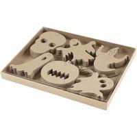 Halloween-ophæng, str. 7-10 cm, 6x10 stk./ 1 pk.