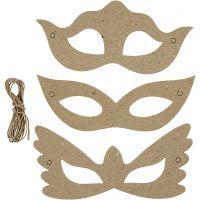 Masker, H: 5+8 cm, B: 18 cm, 3x10 stk./ 1 pk.