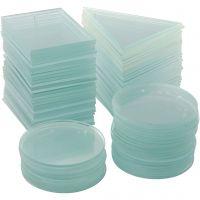 Glasplade, tykkelse 3 mm, 3x30 stk./ 1 ks.