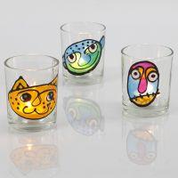 Lysglas med vinduesmaling