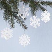 Snefnug af rørperler på perleplade