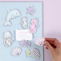 Havdyr magneter dekoreret med tusch