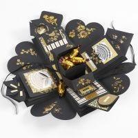 Explosion box som gave med penge og chokolade