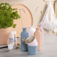 Gipsmalede vaser, urtepotter & bakke