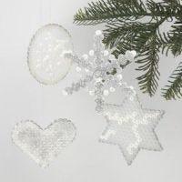 Juleophæng med rørperler