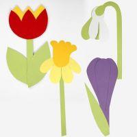 Blomster af karton efter fleksibel skabelon