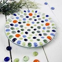 Glasfad med mosaikkunst