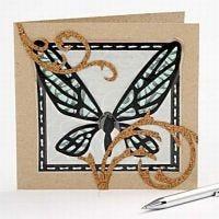Indbydelse med sommerfugl