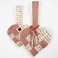 Flettet julehjerte med kvast i Vivi Gade filt