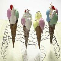 Isvafler af kegler og Silk Clay