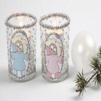 Lysglas med engle