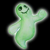 Selvlysende spøgelser i papmaché