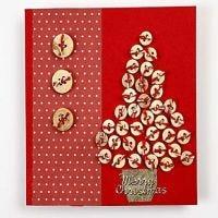 Julekort med træknapper