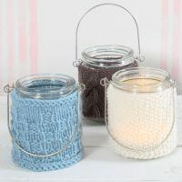 Lysglas med strik