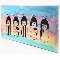 Maleri med lykkedukker