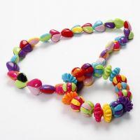 Armbånd og halskæde med todelte perler
