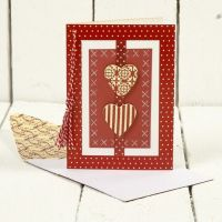 Julekort med små hjerter i design fra Vivi Gade