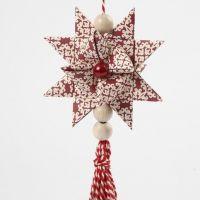 Flettet julestjerne med kvast af snor
