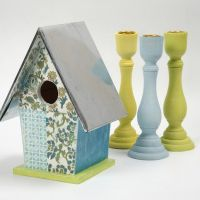 Fuglehus med håndlavet papir