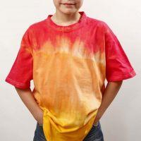 Dip'n dye og batik på T-shirt