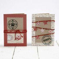 Kvistkort pyntet med papir i design fra Vivi Gade