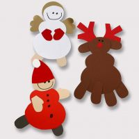 Rensdyr og andre julefigurer af karton