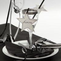 Nytårspynt af karton til glasset