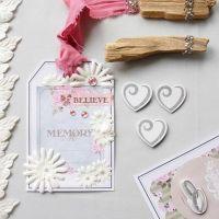 Stort gavemærke med designpapir og pynt fra Vivi Gade