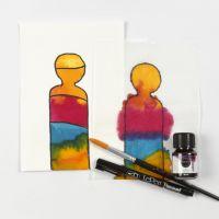 Sådan maler du med flydende akvarel på papir