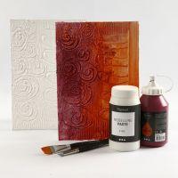 Sådan ridser du motiver og mønstre i maling