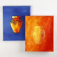 Sådan maler du i relief med akrylmaling