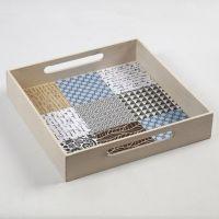 Bakke med kakler af designpapir fra Vivi Gade