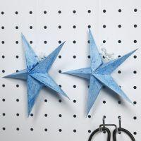 Foldet stjerne, malet med glittermaling
