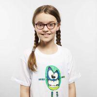 Transfertryk malet med tekstiltusch på T-shirt