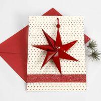 Julekort med 7-takket stjerne