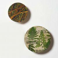 Knage af træ dekoreret med decoupage