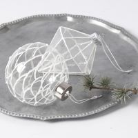 Glasophæng dekoreret med 3D Snow effect