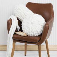 Puder strikket i XL garn