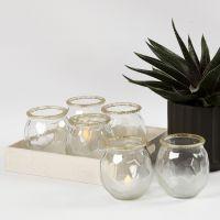 Frostede glas til lys med guldkant