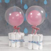 Ble og ballon som baby shower pynt