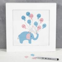 Gæstebillede med elefant og balloner