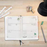 Bullet journal brugt som kalender
