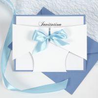 Dåbsinvitation i ble af karton